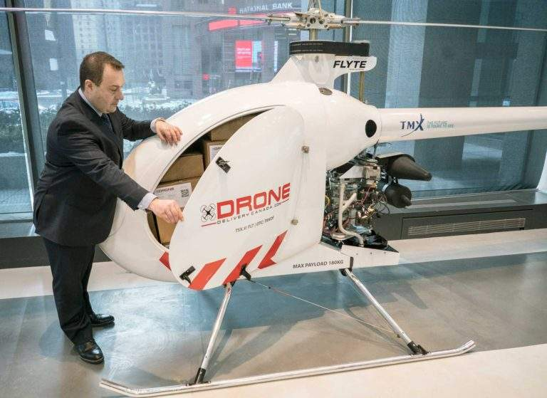 Drone Delivery Canada présente son nouveau drone cargo.