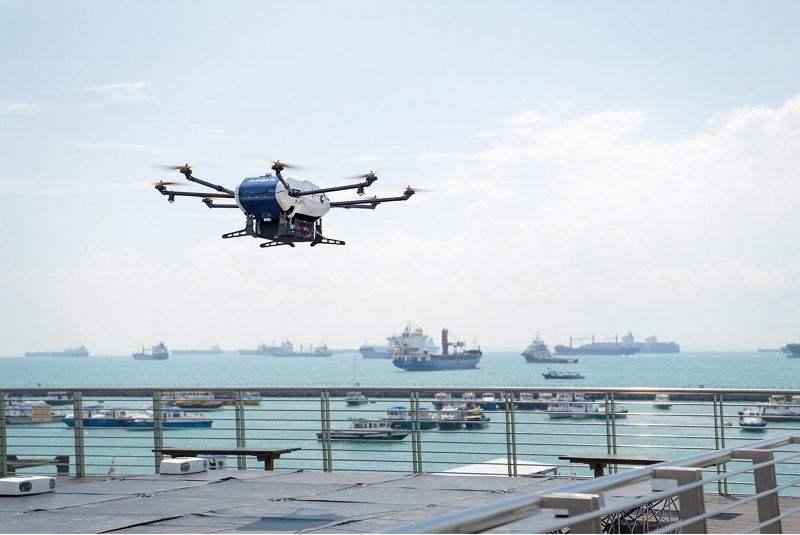 Airbus réalise une livraison par drone.