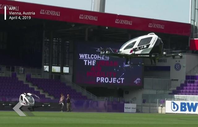 Vienne: Le premier taxi-drone effectue un vol de démonstration