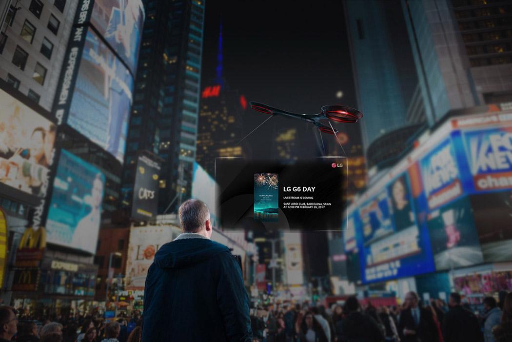 Ce concept de drone veut révolutionner l'affichage publicitaire.