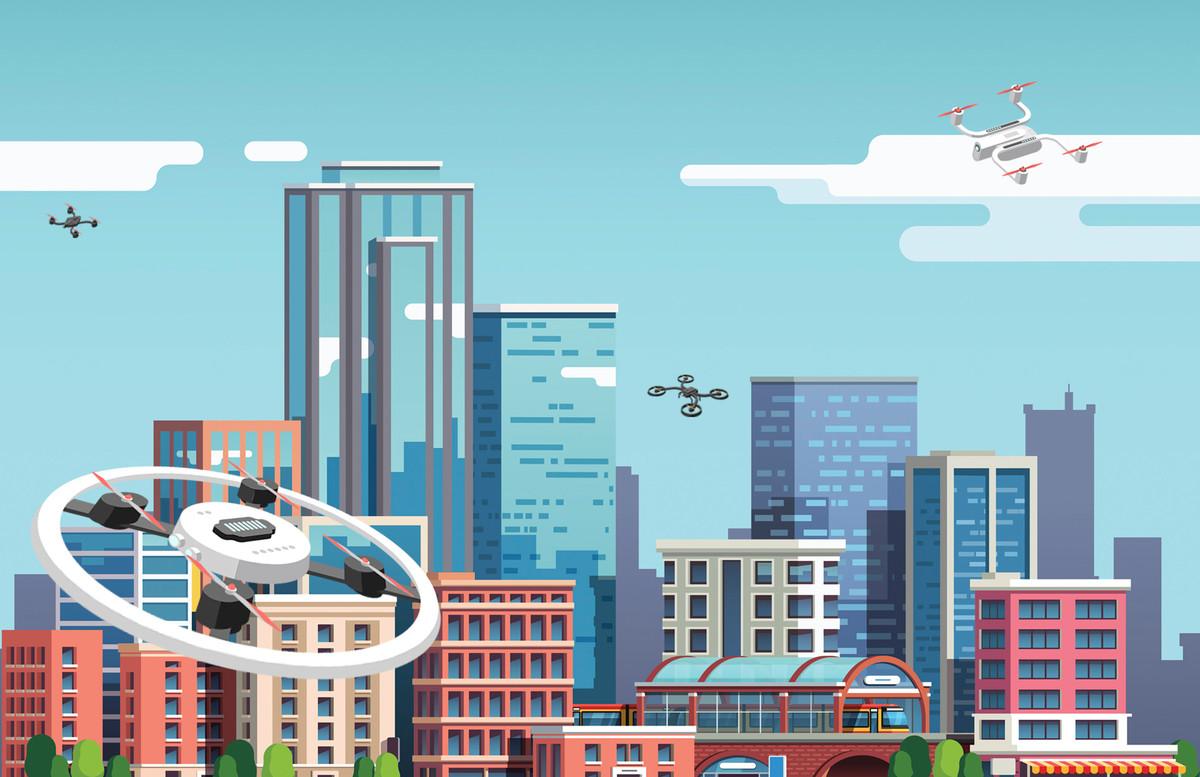 Contrôle du trafic des drones en zone urbaine, la NASA entame les tests finaux.
