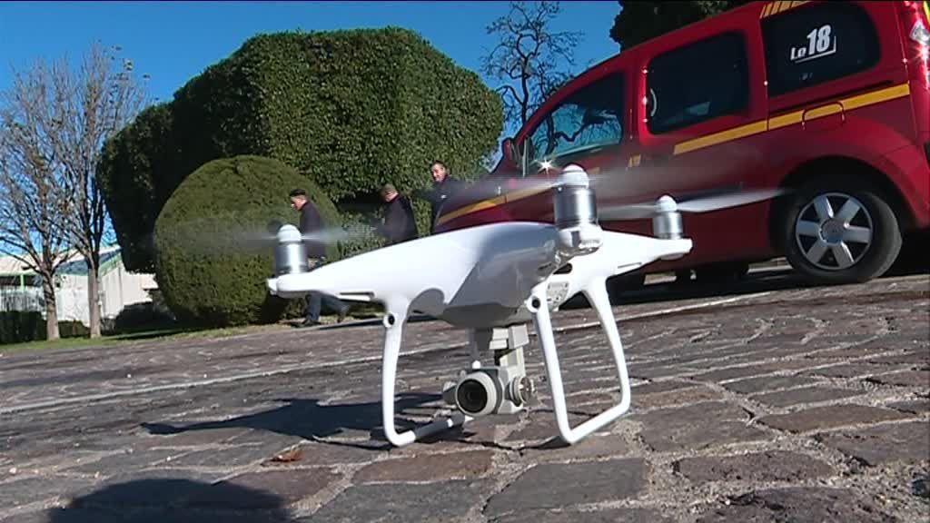 Les pompiers de l'Hérault se forment au drone.